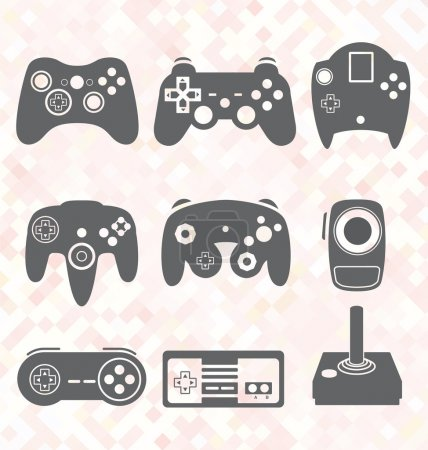 Vektor se: Retro-Videospiel-Controller
