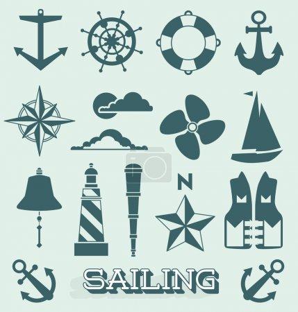 Vector Set: Sailing Icons and Symbols