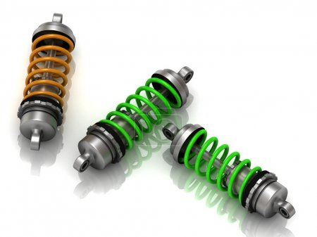 Three car shock absorbers