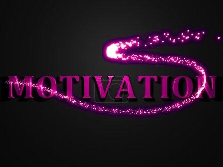 MOTIVATION- 3d inscription with luminous line with spark