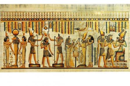 Photo pour Papyrus égyptien avec des hiéroglyphes antiques - image libre de droit