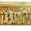 Egyptian papyrus with antique hieroglyphs...