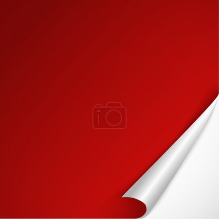 Sheet of red paper