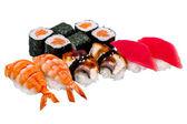 Nigiri sushi a rohlíky
