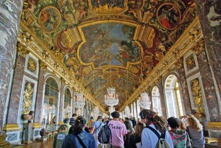 Tourists visiting Versailles Palace