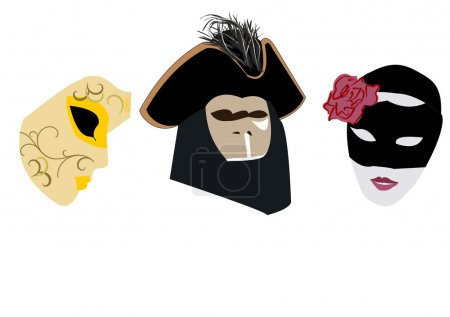 Collection of Venetian carnival masks