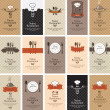 Set of business cards on the theme of food beverag...