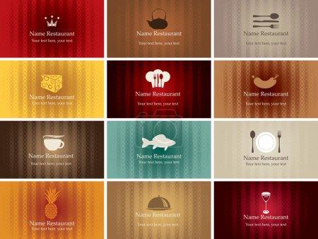 Photo pour Jeu de cartes de visite sur la nourriture et les boissons - image libre de droit