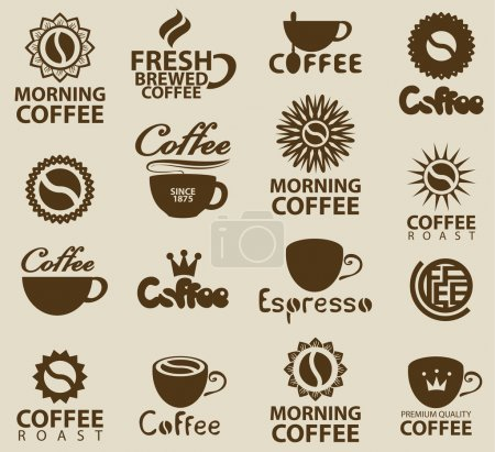 logos on coffee