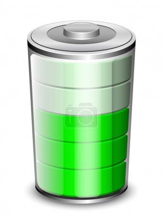Illustration pour Icône de batterie vectorielle - image libre de droit