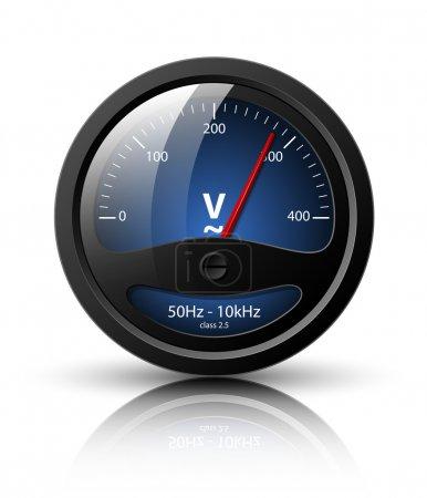 Voltmeter icon. Vector illustration