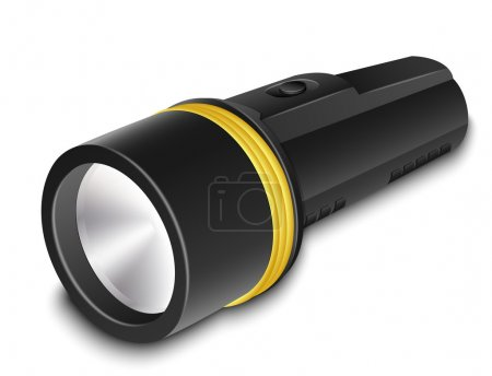 Illustration for Vector Flashlight on a white background - Royalty Free Image
