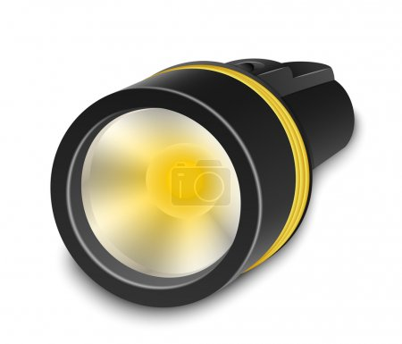 Illustration for Flashlight on a white background. Vector Illustration - Royalty Free Image