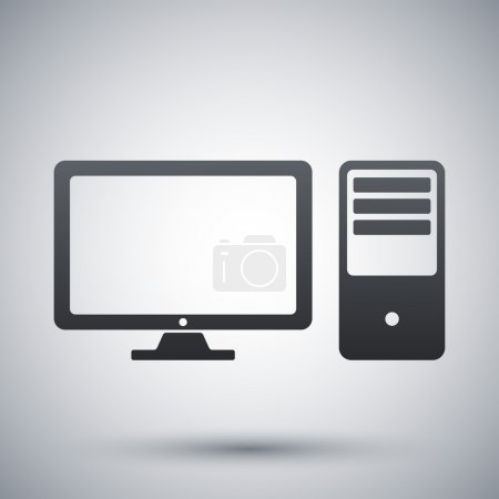 Illustration for Vector desktop computer icon - Royalty Free Image