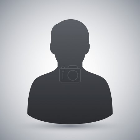 Illustration for Vector male user icon - Royalty Free Image