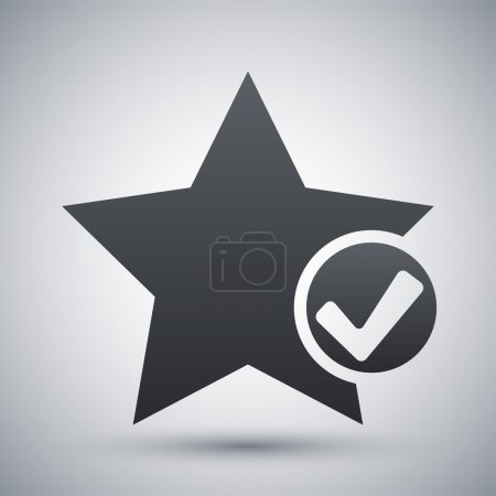 Vector star favorite icon