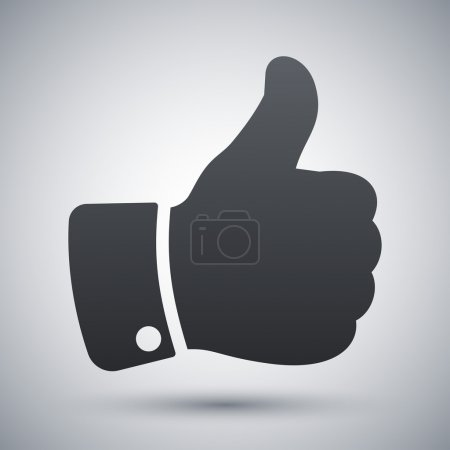 Illustration for Vector thumb up icon - Royalty Free Image