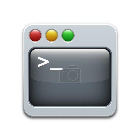 Vector command line icon...