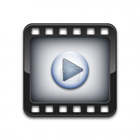 Vector media player icon...