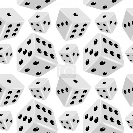 Dices seamless background