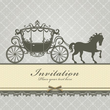 Vintage Luxury carriage invitation template