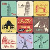 Vintage travel poster & label