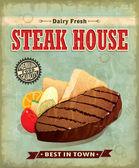 Vintage Steak house menu poster design