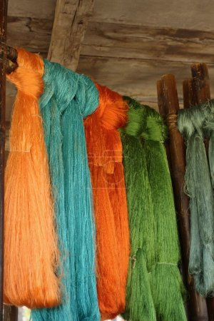 Hand made of raw silk