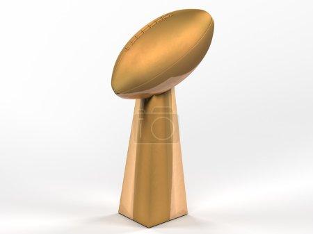 Football Superbowl trophy