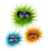 Flurry fluffy colorful creatures wearing glasses