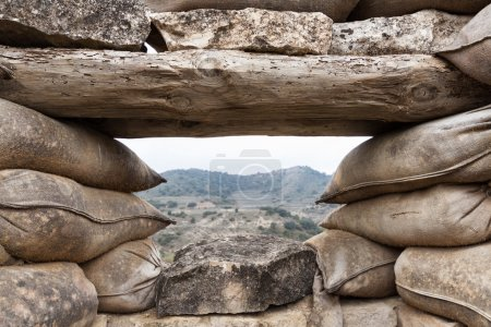 Defensive fighting position in Alcubierre, Spain