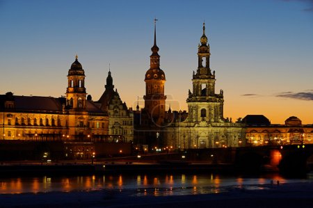 Dresden old town at night
