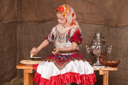 Russian girl in national dress