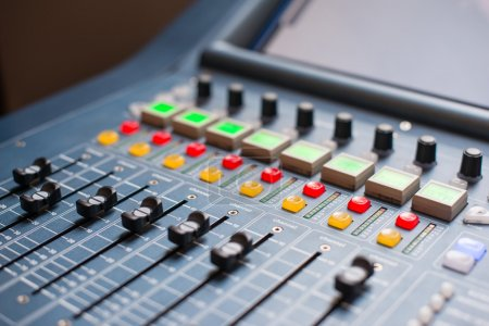 Photo for Large Music Mixer desk at he Concert - Royalty Free Image