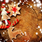 Christmas decoration over grunge background, vinta...