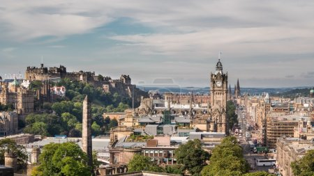 Photo for 4K Version of Edinburgh old town Timelapse from carlton hill - Royalty Free Image