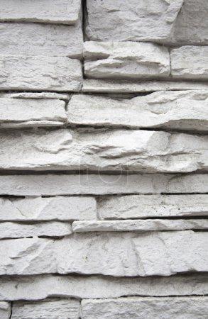 Photo pour Texture de pierre blanche, avant de détail d'une façade ancienne. - image libre de droit