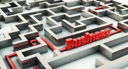 3d maze and business