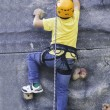 Wall climbing child test...
