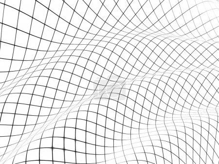 Foto de 3D rejilla cubierta superficie curva - Imagen libre de derechos