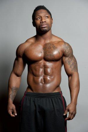 African American Body Builder