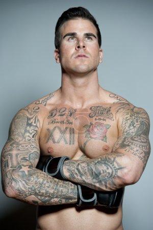 Caucasian man MMA boxer