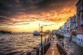 """Постер, картина, фотообои """"красивый закат на берегу моря Средиземного моря, Венеция"""""""