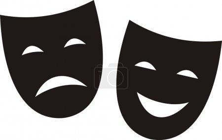 Illustration pour Masques de théâtre . - image libre de droit
