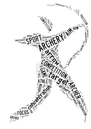 archery pictogram on white background