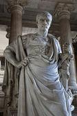 BRUSSELS - JUNE 22: Statue of ancient jurist Domitius Ulpianus from vestiubule of Justice palace by sculptor Antoine-Felix Boureon on June 22, 2012 in Brussels.