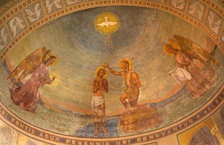 soulagement de Milan - baptême du christ - de san agostino