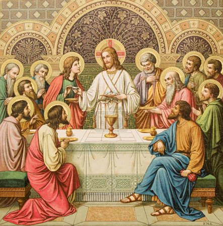 Last Supper of Christ - old liturgy book...