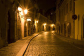 Prague - nightly street from Little quarter