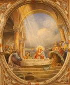 VERONA - JANUARY 28: Fresco of Last supper in the church Santa Eufemia on January 28, 2013 in Verona, Italy.